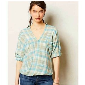 Anthropologie Holding Horses Wildacre Wrap Blouse